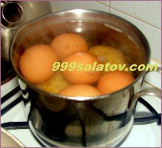 """Как приготовить салат """"Подсолнух"""""""